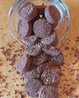 Le sablé au cacao et fleur de sel