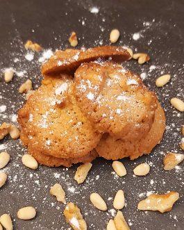 Le biscuit noix et pignon de pin